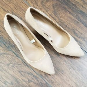 Sueded Tan Pumps